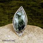 Pierścionki srebrny pierścionek z serafinitem