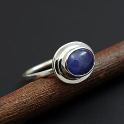 tanzanit,srebro,pierścionek,delikatny,niebieski - Pierścionki - Biżuteria