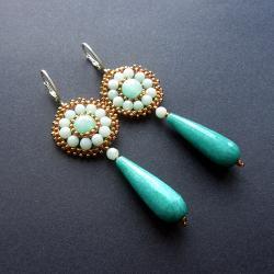 długie,kolczyki,minerały,wiszące,Extrano - Kolczyki - Biżuteria