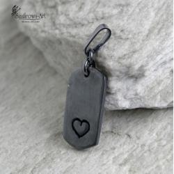 serce,nieśmiertelnik,amulet,prezent - Wisiory - Biżuteria