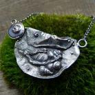 Naszyjniki srebrny,morski,marynistyczny,muszelki,perłowy