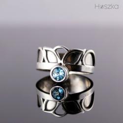 obrączka,korona,pierścionek,topaz - Pierścionki - Biżuteria