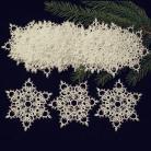 Inne frywolitka,gwiazdki,koronka,Boże Narodzenie