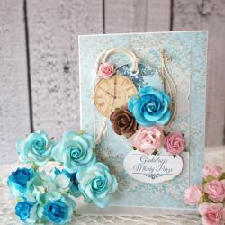 kartka,kolorowa,ślub - Kartki okolicznościowe - Akcesoria