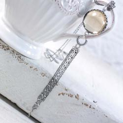 Srebrny naszyjnik z cytrynem - Naszyjniki - Biżuteria