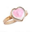 sweet heart... złoty pierścionek z turmalinem