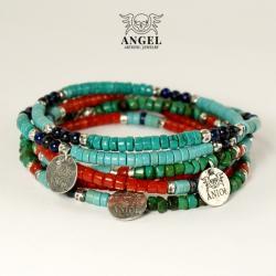 koraliki,bransoleta męska,komplet biżuterii - Bransoletki - Biżuteria