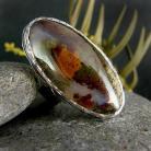 Pierścionki srebro,agat mszysty,unikat,pierścień