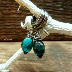 eleganckie kolczyki,szmaragdowe kolczyki - Kolczyki - Biżuteria