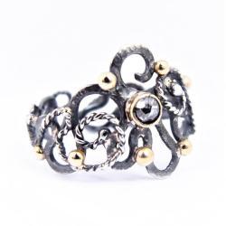 unikatowy pierścionek z diamentem, - Pierścionki - Biżuteria