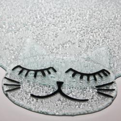 patera na ciasto,tort,kot,prezent,szkło - Ceramika i szkło - Wyposażenie wnętrz