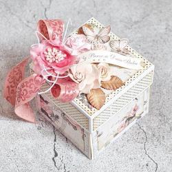 ślub,exploding box,kwiaty,tort,torcik - Kartki okolicznościowe - Akcesoria