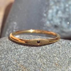 prosty pierścionek,delikatny,boho,cyrkonia - Pierścionki - Biżuteria