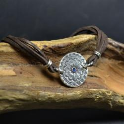 bransoleta z mandalą,bransoleta ze srebrem - Bransoletki - Biżuteria