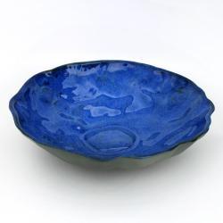 nieregularna,kobaltowy,intensywny,misa - Ceramika i szkło - Wyposażenie wnętrz