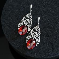 czerwone kolczyki,duże kolczyki - Kolczyki - Biżuteria