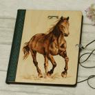 Notesy szkicownik,notatnik,pirografia,koń