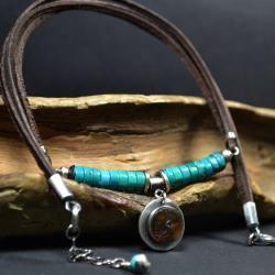 naszyjnik z bursztynem,letni zaszyjnik - Naszyjniki - Biżuteria