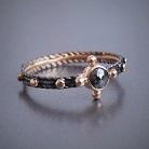Pierścionki złoty pierścionek różaniec z diamentem