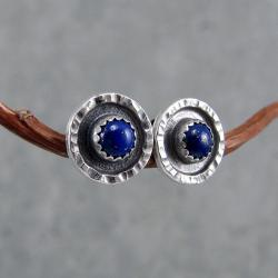 drobne,surowe,sztyfty,industrialne,młotkowane - Kolczyki - Biżuteria