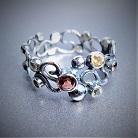 Pierścionki srebrny pierścionek,pierścionek z kamieniami