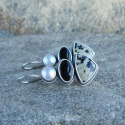 czarno-białe,monochromatyczne - Kolczyki - Biżuteria