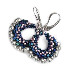 lekkie,eleganckie,kobiece,delikatne,wachlarz - Kolczyki - Biżuteria