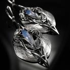 Kolczyki srebrne,kolczyki,wire-wrapping,calcedon,upcycling