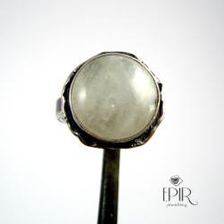 Pierścionek srebrny z kamieniem księżycowym - Pierścionki - Biżuteria