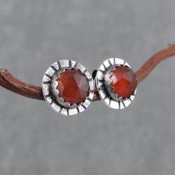 paski,okrągłe,drobne,młotkowane,boho,surowe - Kolczyki - Biżuteria