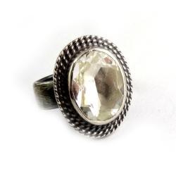 kryształ,retro,srebrny,unikat,drzewo,retro - Pierścionki - Biżuteria
