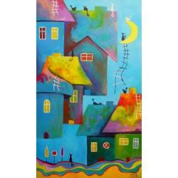 bajka,akryl,obraz,kolor - Obrazy - Wyposażenie wnętrz