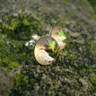 Kolczyki srebrne kolczyki z jeżowcem Swarovski zielone