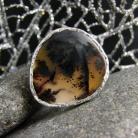 Pierścionki srebro,agat,pierścień,regulowany