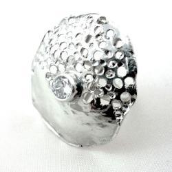 srebro,pierścionek,kosmos - Pierścionki - Biżuteria