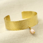 Bransoletki bransoleta,bangla,mosiężna,perła,elegancka