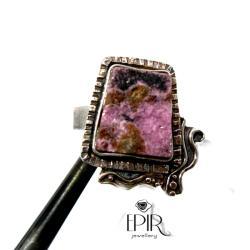 Pierścionek Srebrny z Naturalnym Rubinem - Pierścionki - Biżuteria