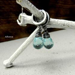 AKWAMARYNOWE KOLCZYKI - Kolczyki - Biżuteria