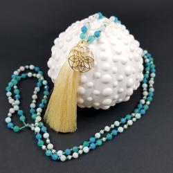 długi,boho,modny,z chwostem,supełkowy - Naszyjniki - Biżuteria