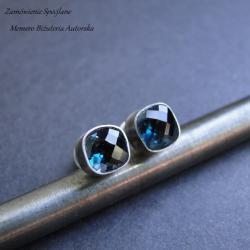 srebro,topaz,sztyfty,surowe - Kolczyki - Biżuteria