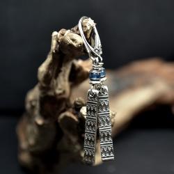 kolczyki z apatytem,srebro z kamieniami - Kolczyki - Biżuteria