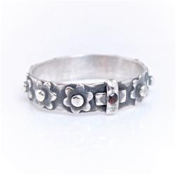a4f11f809bf64d srebrny pierścionek różaniec,różaniec na palec - Pierścionki - Biżuteria