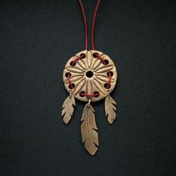 łapacz snów,wisior,biżuteria artystyczna,fiann, - Wisiory - Biżuteria