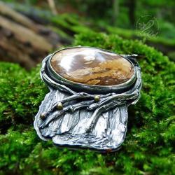 srebrny,leśny,natura,drzewo,organiczny - Wisiory - Biżuteria