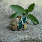 Kolczyki zielone kamienie,kolczyki zielone,Rivendell