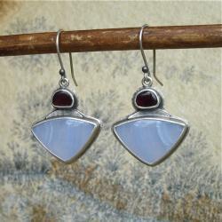 błękit,kobiece kolczyki,Rivendell - Kolczyki - Biżuteria