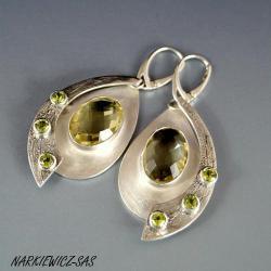 Kolczyki z cytrynami i oliwinami - Kolczyki - Biżuteria