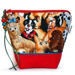 kosmetyczka,psy,prezent,autorska,wygodna,saszetka - Kosmetyczki - Dodatki