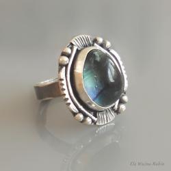 fluoryt,pierścionek,artystyczny,ela rubin - Pierścionki - Biżuteria