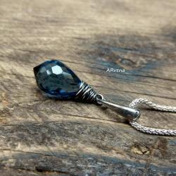 elegancka zawieszka,niebieski kwarc - Wisiory - Biżuteria